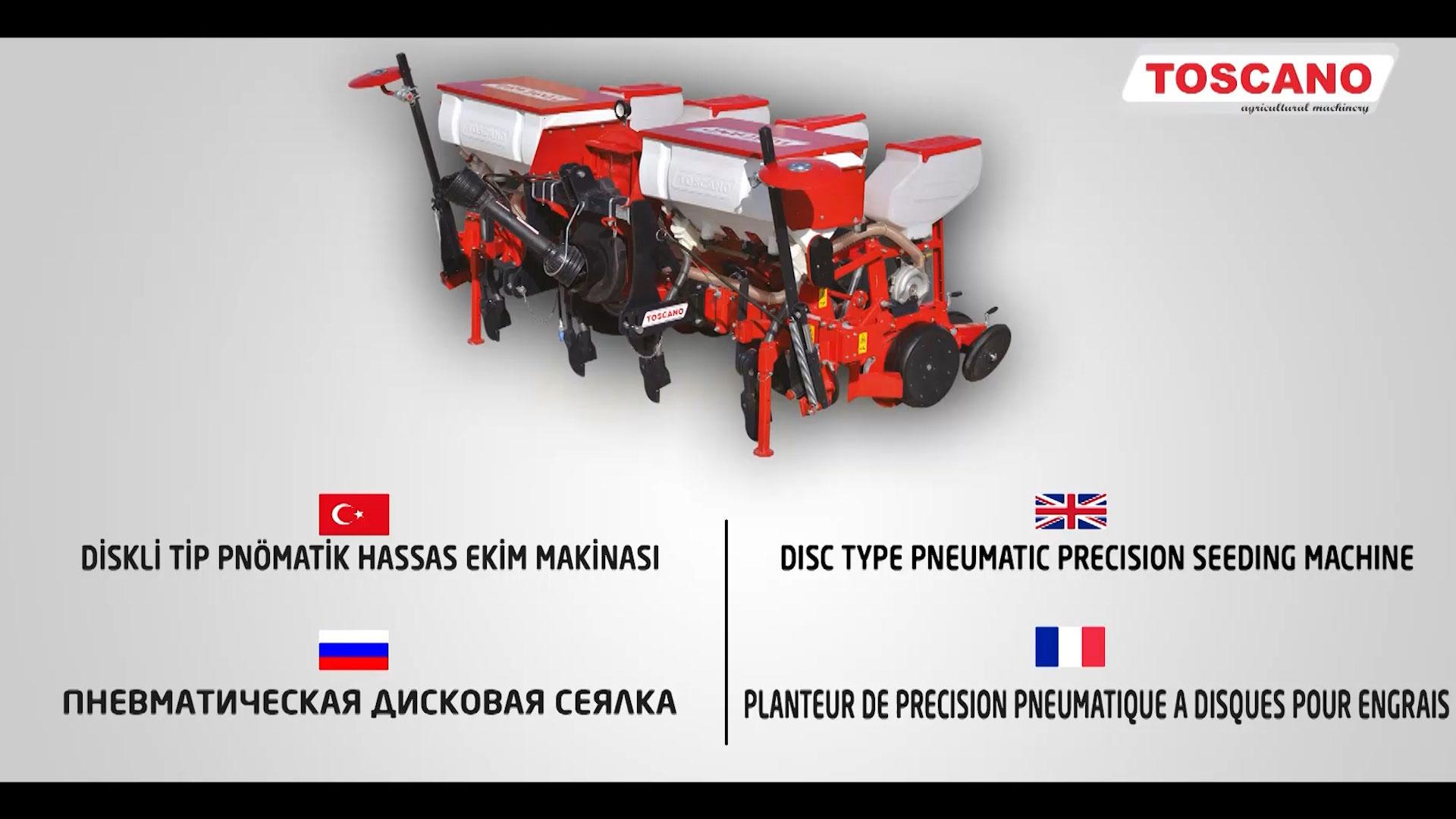 TOSCANO  Disc Type Pneumatic Precision Seeding Machine