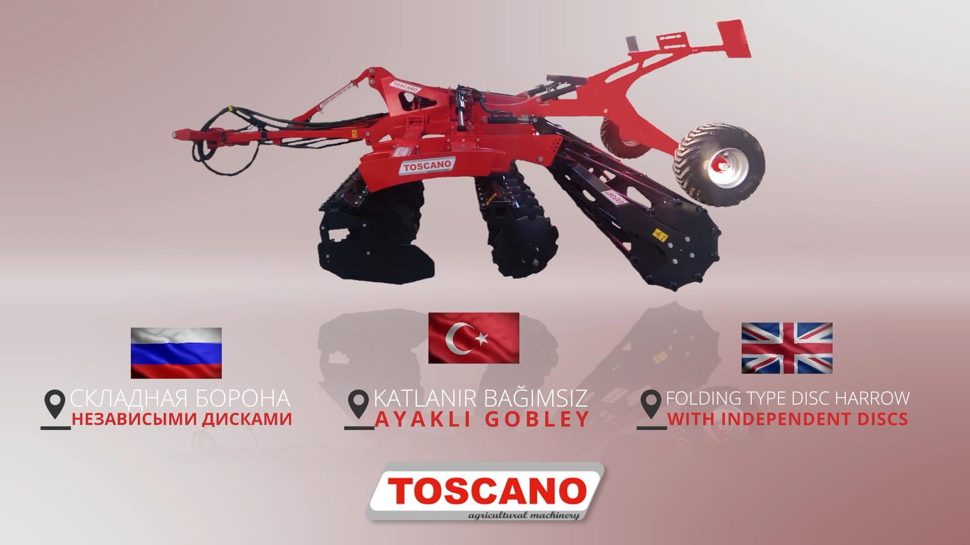 TOSCANO Katlanır Bağımsız Ayaklı Goble